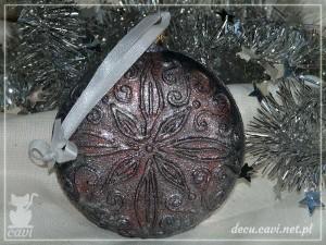 bombka medalion konturówka miki zima