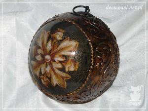 decoupage bombka vintage reliefy