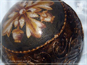 bombka vintage reliefy patyna