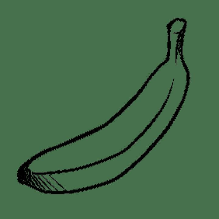 gambar buah pisang mewarnai