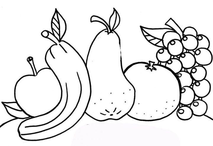 mewarnai buah buahan