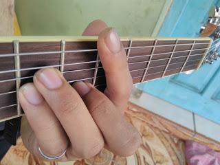 kunci gitar Dm gantung