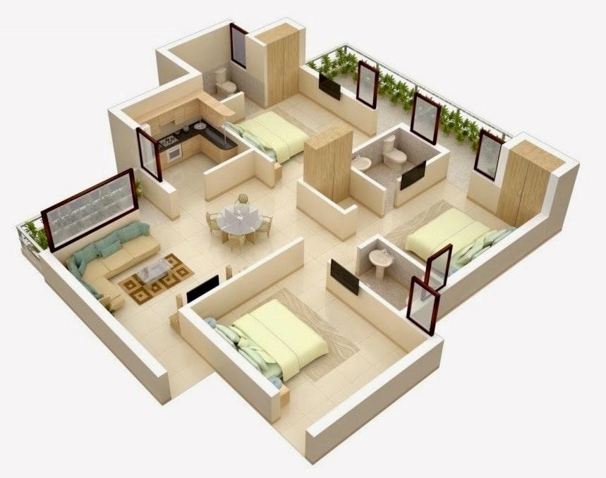 15 Desain Rumah Minimalis 3 Kamar Tidur Sederhana Tetap Nyaman Untuk Keluarga Decyra
