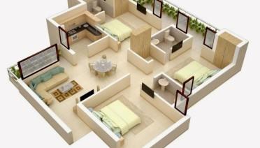 10 Desain Rumah Minimalis 3 Kamar Tidur Sederhana Tetap Nyaman untuk Keluarga 1