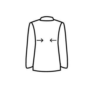 casaco apertar lados