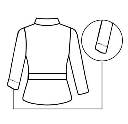 casaco de pele manga