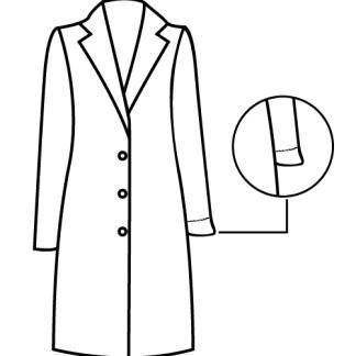 gabardine casaco comprido manga