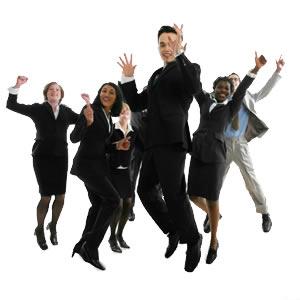 business people jumping - Sukses (Kirim Surat Lamaran, Psikotest, dan Wawancara) dalam Kerja