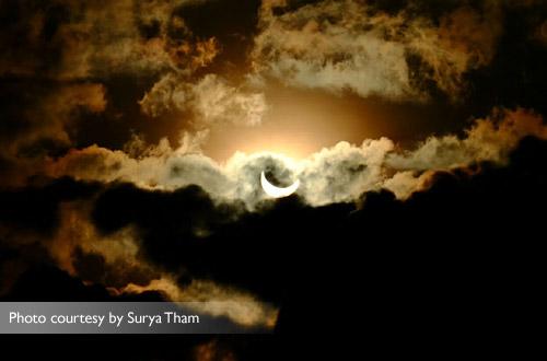 Gerhana matahari total di Palembang