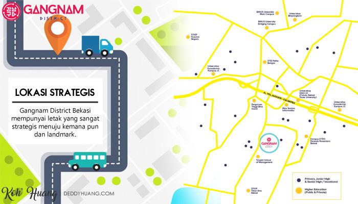 lokasi strategis gangnam district - Gangnam District Hunian Bergengsi Pusat Kota Bekasi