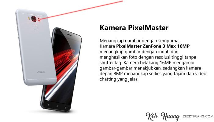 Kamera Zenfone 3 Max menggunakan PixelMaster