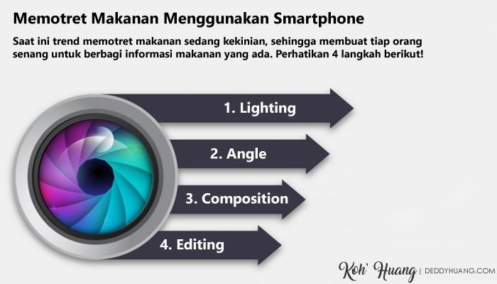 Tips memotret makanan menggunakan smartphone