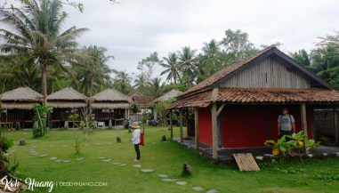 Luas halaman resort