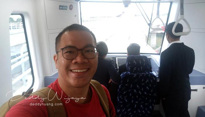 selfie skytrain shia - Penasaran! Inilah Penampakan Skytrain Bandara Soekarno Hatta