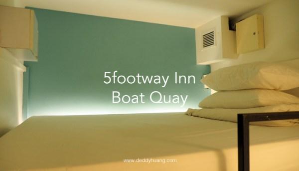 5footway Inn Boat Quay : Hostel Murah Dekat MRT di Singapura