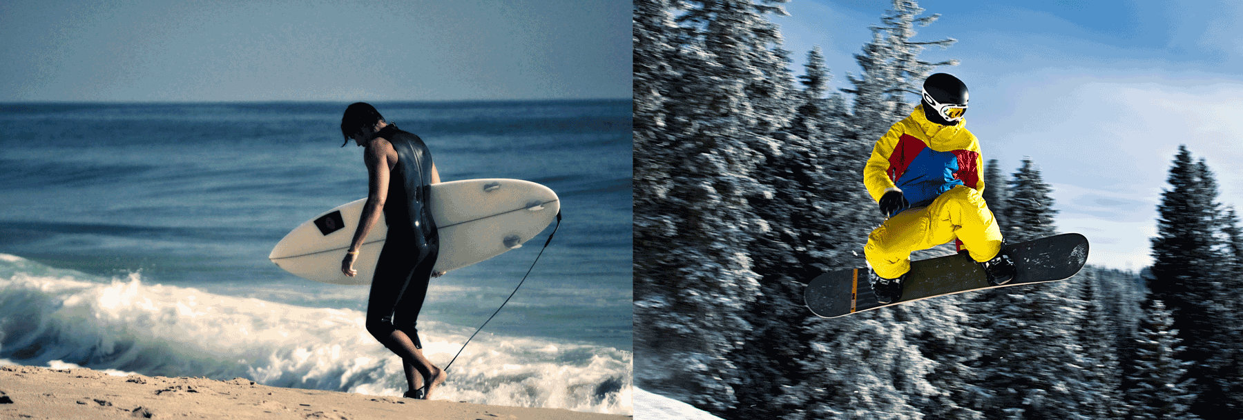 surfers and snowboarders