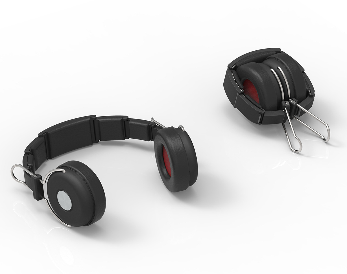 Armadillo Headphones folded and unfolded