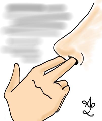 doigts dans le nez