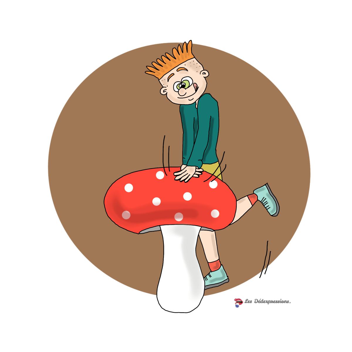 appuyer le champignon les dedexpressions