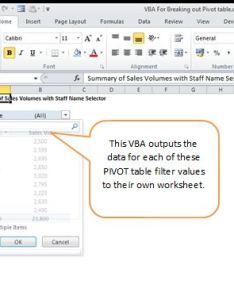 For example also vba splitting an excel pivot table into multiple reports rh dedicatedexcel