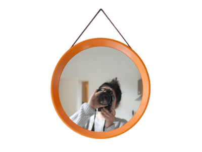 oranje retro spiegel