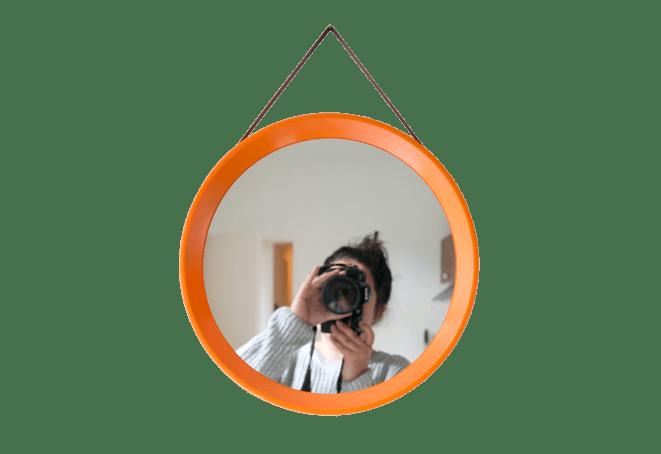 Deense retro spiegel