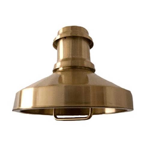 goudkleurige hanglamp skibslampe