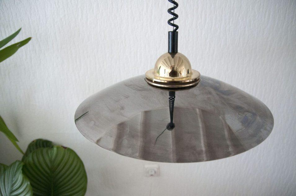 vintage deense hanglamp hollywood regency