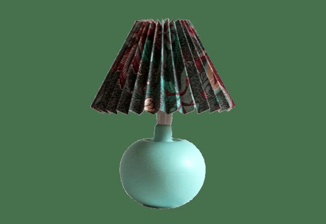 Mintgroene tafellampje