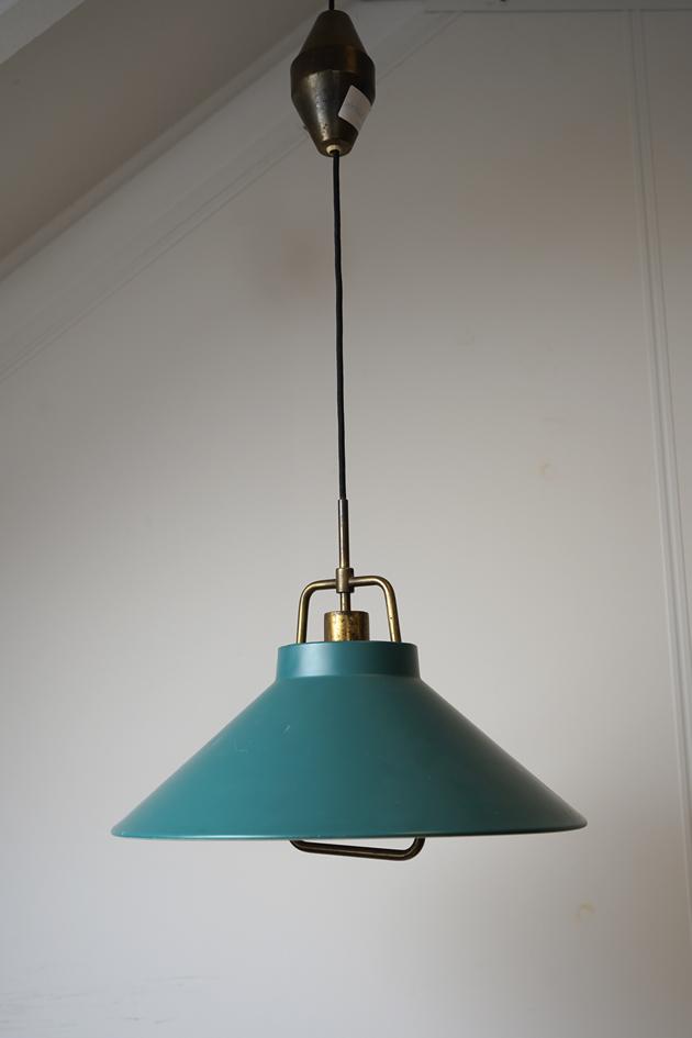 vintage gouden hanglamp