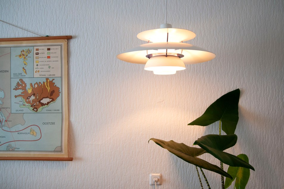 Witte PH5 lamp Louis Poulsen