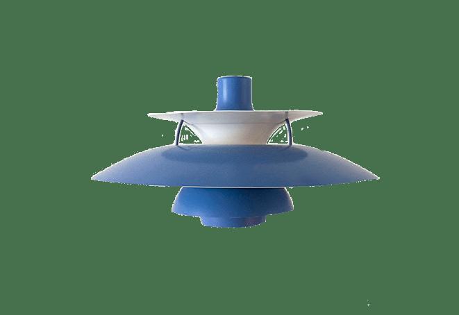 Blauwe PH5 lamp Louis Poulsen