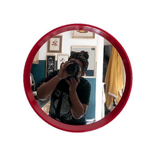 retro ronde spiegel