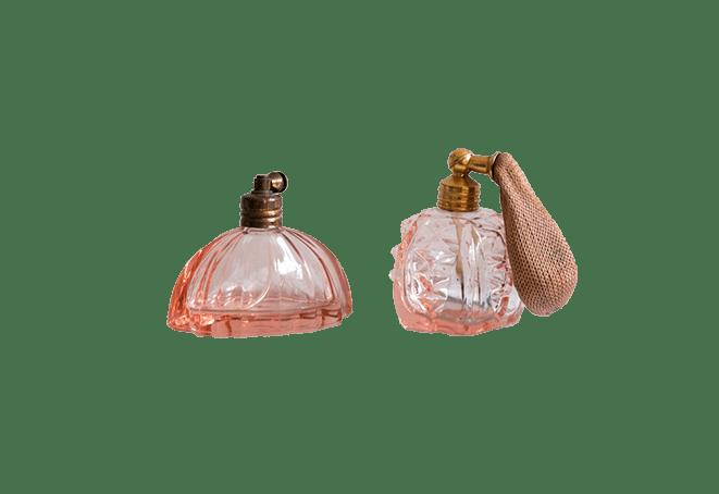 Setje oldskool parfumflesjes