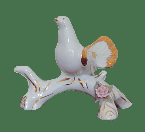 porseleinen duif beeldje