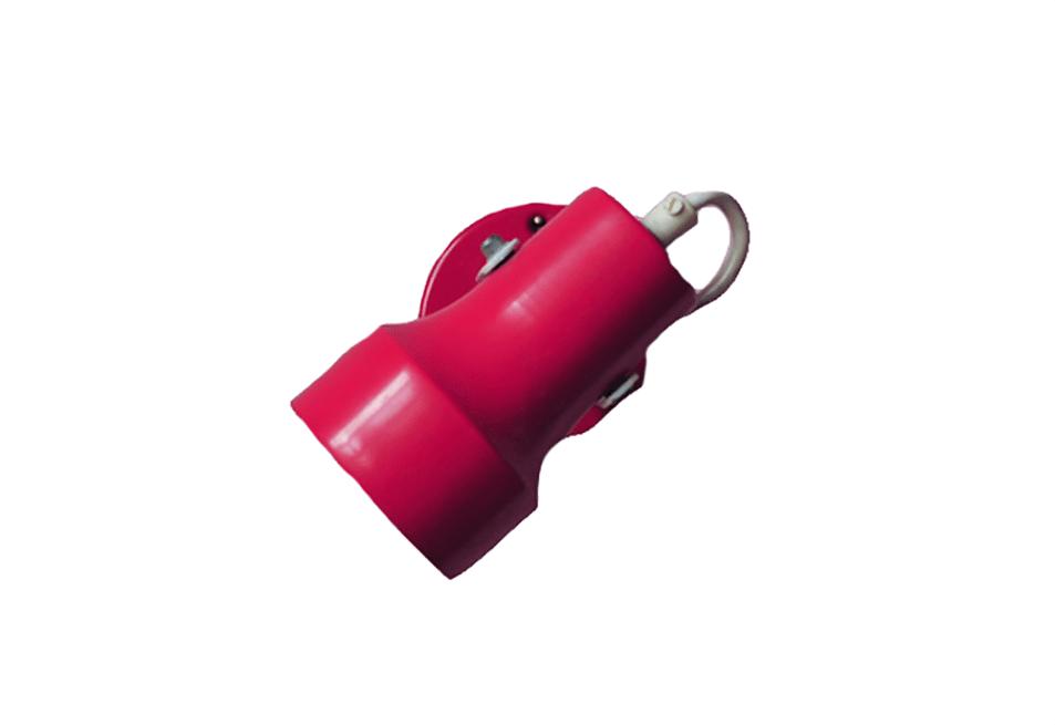 rood vintage wandlampje