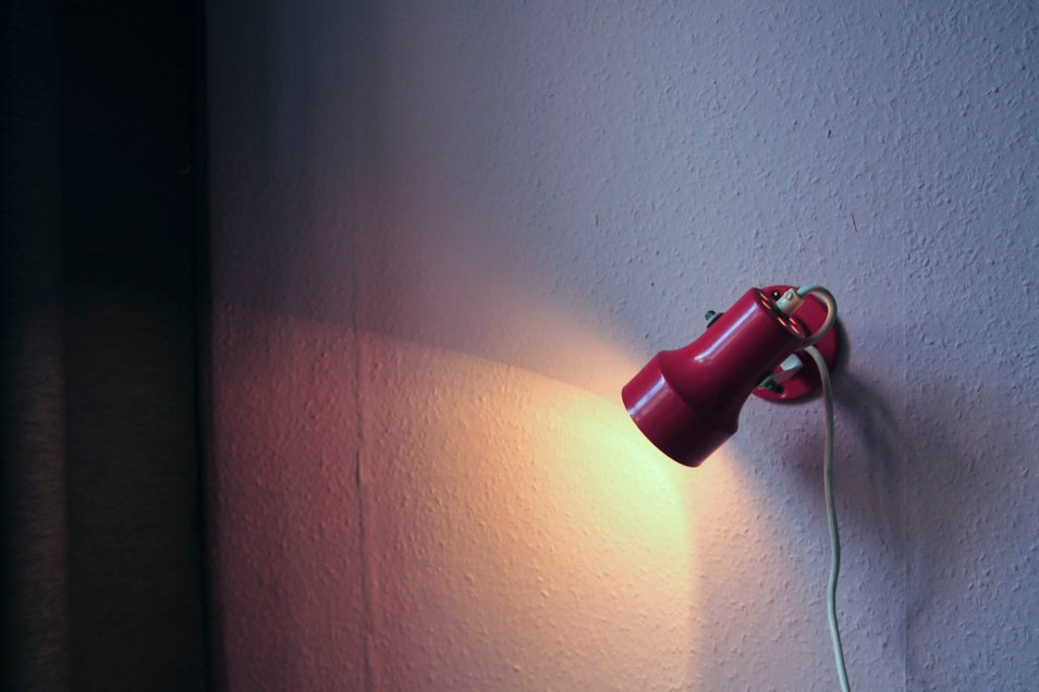 rood wandlampje