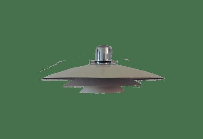 witte schijven hanglamp silver
