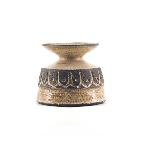 bruine keramieken kandelaar Løvemose