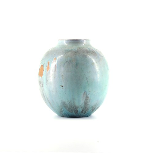 turquoise bolle vaas Mobach