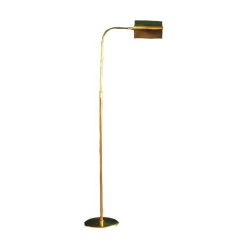 vintage gouden vloerlamp