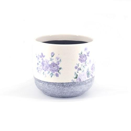 bloempot paarse bloemen