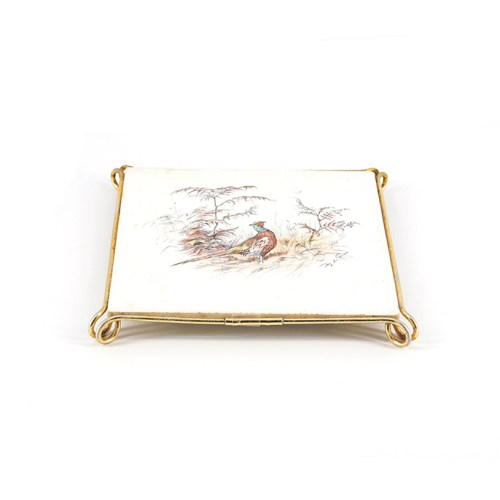 onderzetter fazant Mettlach