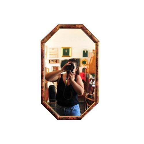octagon bloemen spiegel