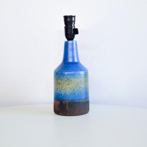 Deense blauwe aardewerk tafellamp