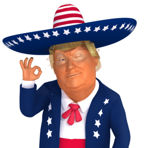 #trumpsticker It's Ok 3D Mexican Trump Caricature