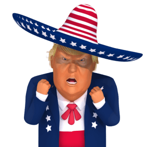 #trumpstickers Angry Mexican Trump 3D caricature