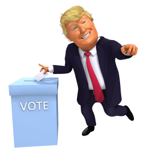 Go Vote Trump Cartoon 3D Caricature