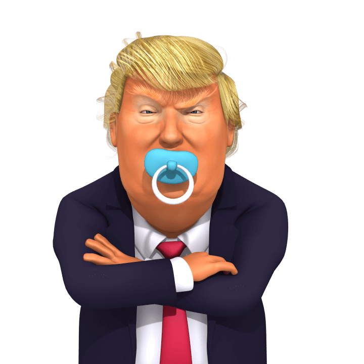 trump with pacifier