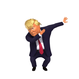 The Dab by Trump 3d Caricature still image